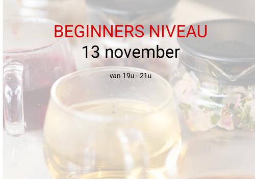 Cuperus Beginners niveau: 13 november van 19u tot 21u