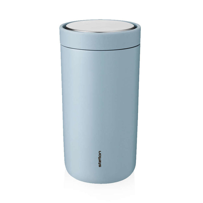 Stelton to-go-click thermosbeker staal (cloud)