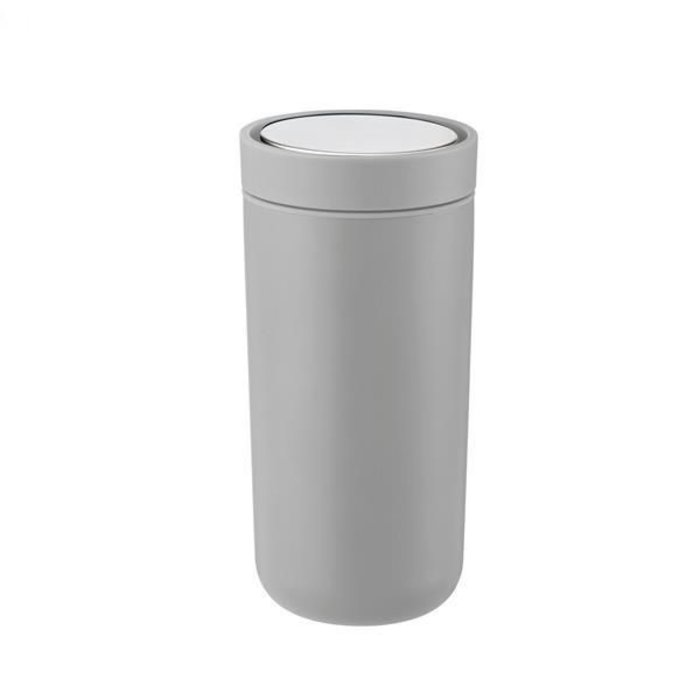 Stelton to-go-click thermosbeker staal (soft light grey)