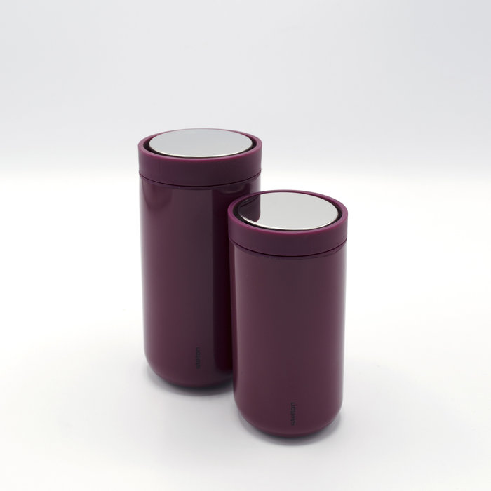 Stelton to-go-click thermosbeker (burgundy)