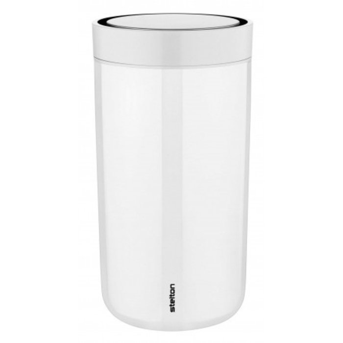 Stelton to-go-click thermosbeker staal (chalk)