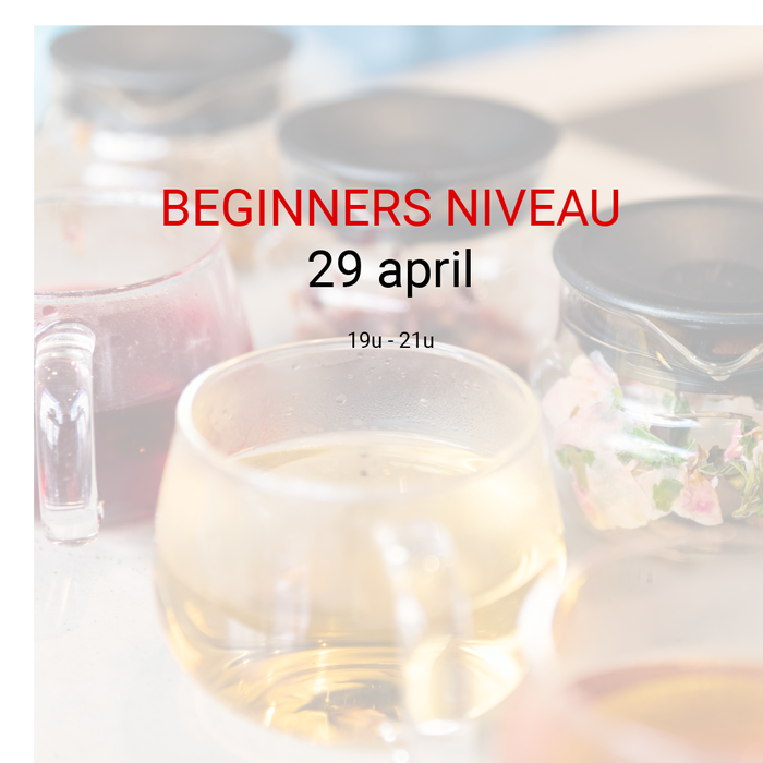 Beginners niveau: 29 april van 19u tot 21u