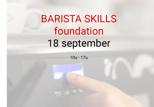 Cuperus Barista foundation - 18 september - 10u tot 17u