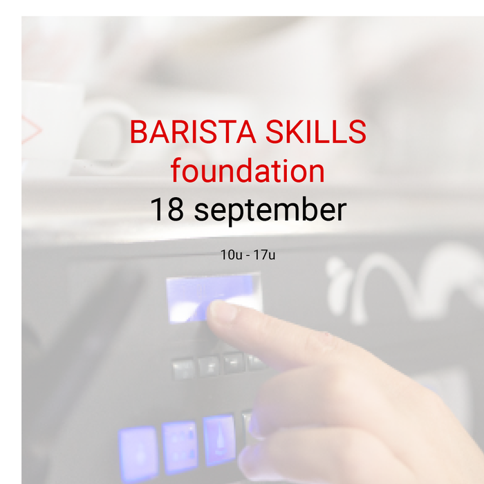 Barista foundation - 18 september - 10u tot 17u