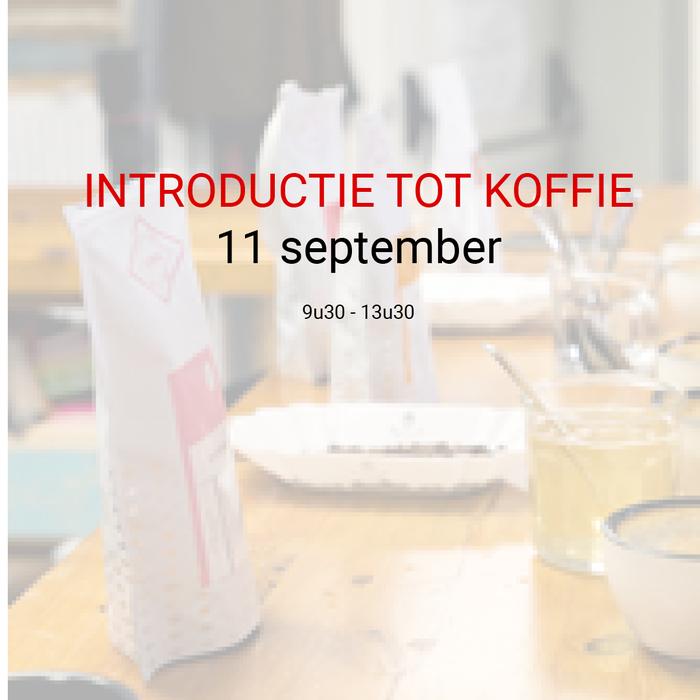 Introductie tot koffie - 11 september - 9u30 tot 13u30