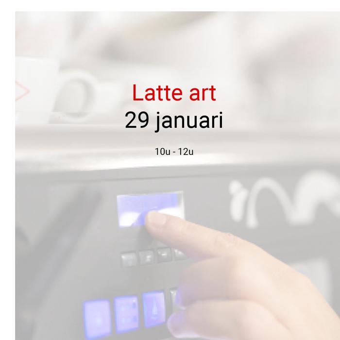 Latté art - 29 januari - 10u.00 tot 12u00