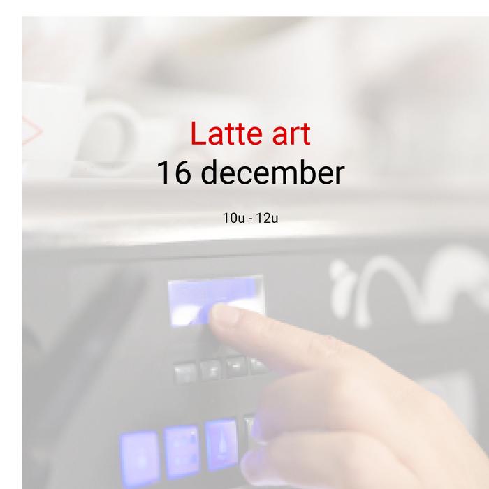 Latté art - 16 december- 10u.00 tot 12u00