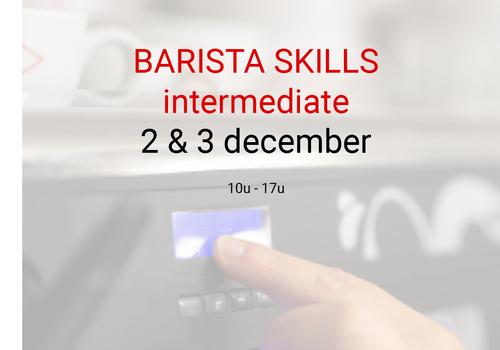 Cuperus Barista intermediate: 2 & 3 december- 10u tot 17u