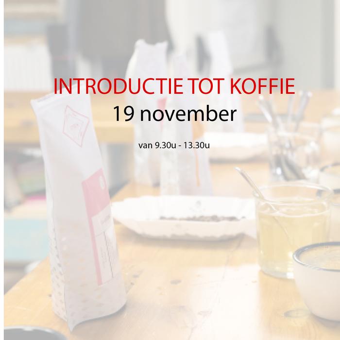 Introductie tot koffie - 19 november - 9u30 tot 13u30
