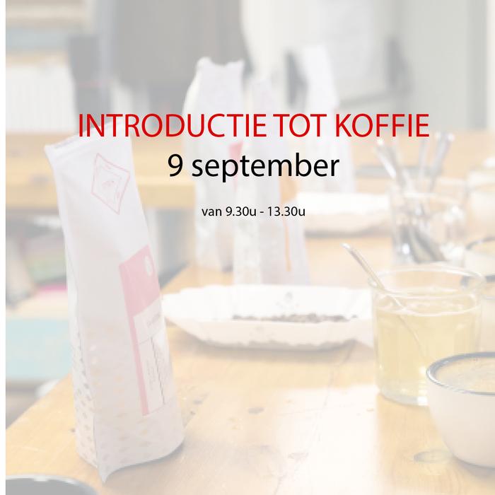Introductie tot koffie - 09 september - 9u30 tot 13u30