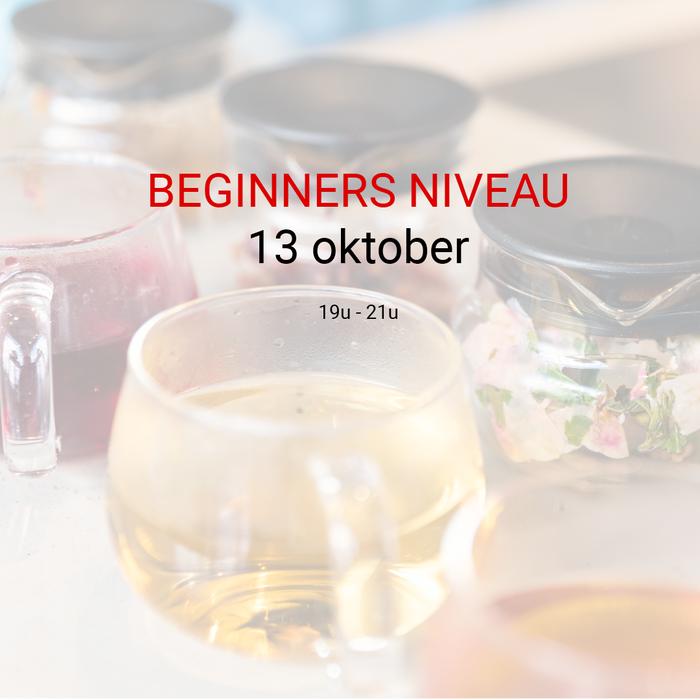 Beginner: 13 oktober van 19u tot 21u