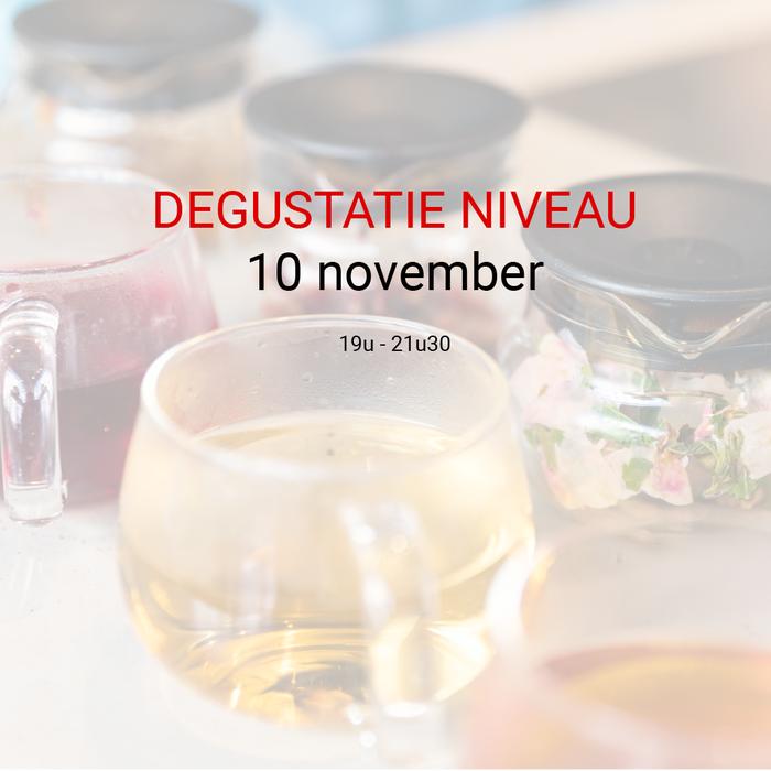 Degustatie: 10 november van 19u tot 21u30
