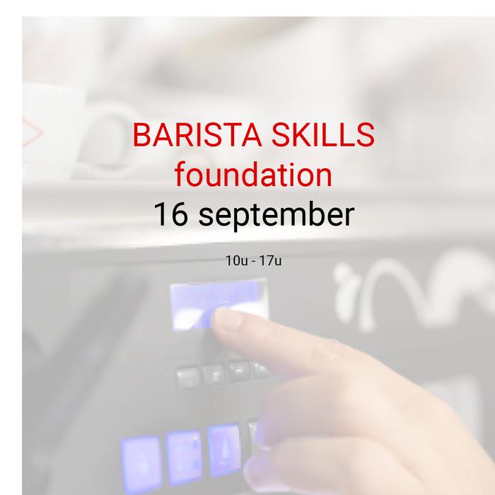 Barista foundation - 16 september- 10u tot 17u
