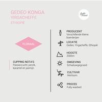 Gedeo Konga Yirgacheffe - Ethiopië