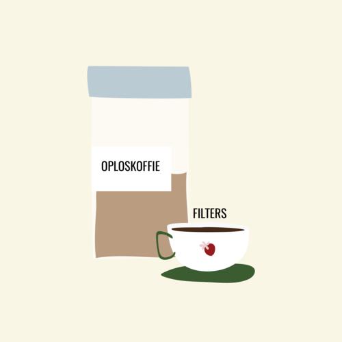 Filters en oploskoffie