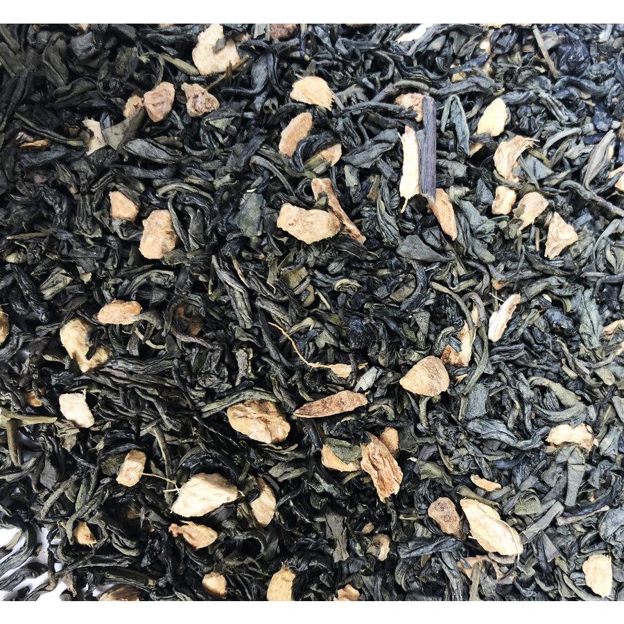 Groene thee met gember