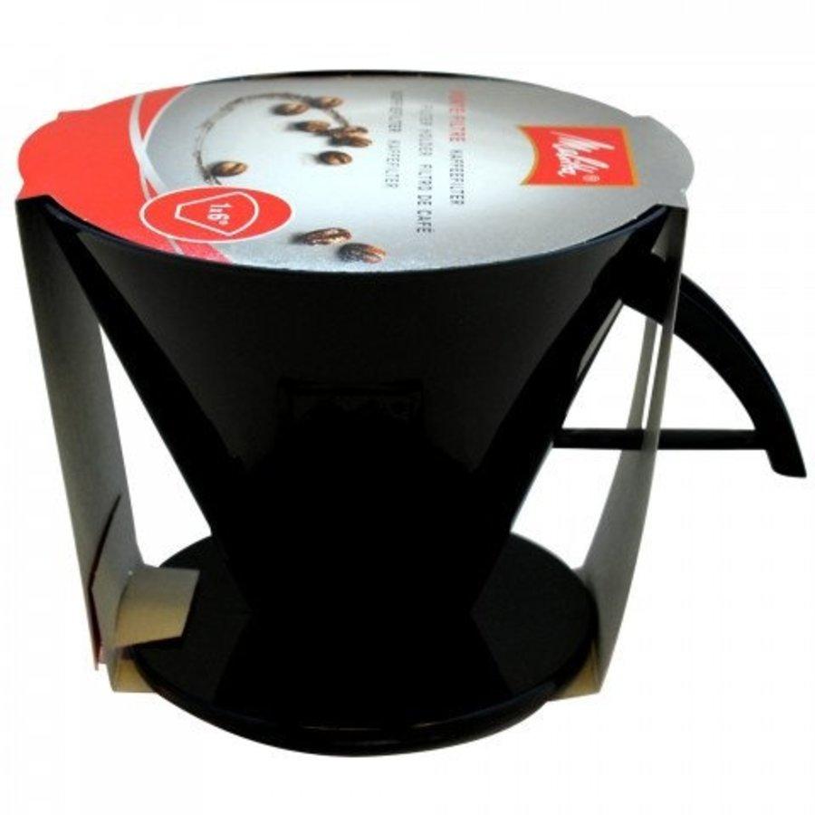 Melitta filterhouder plastic zwart (1x6)