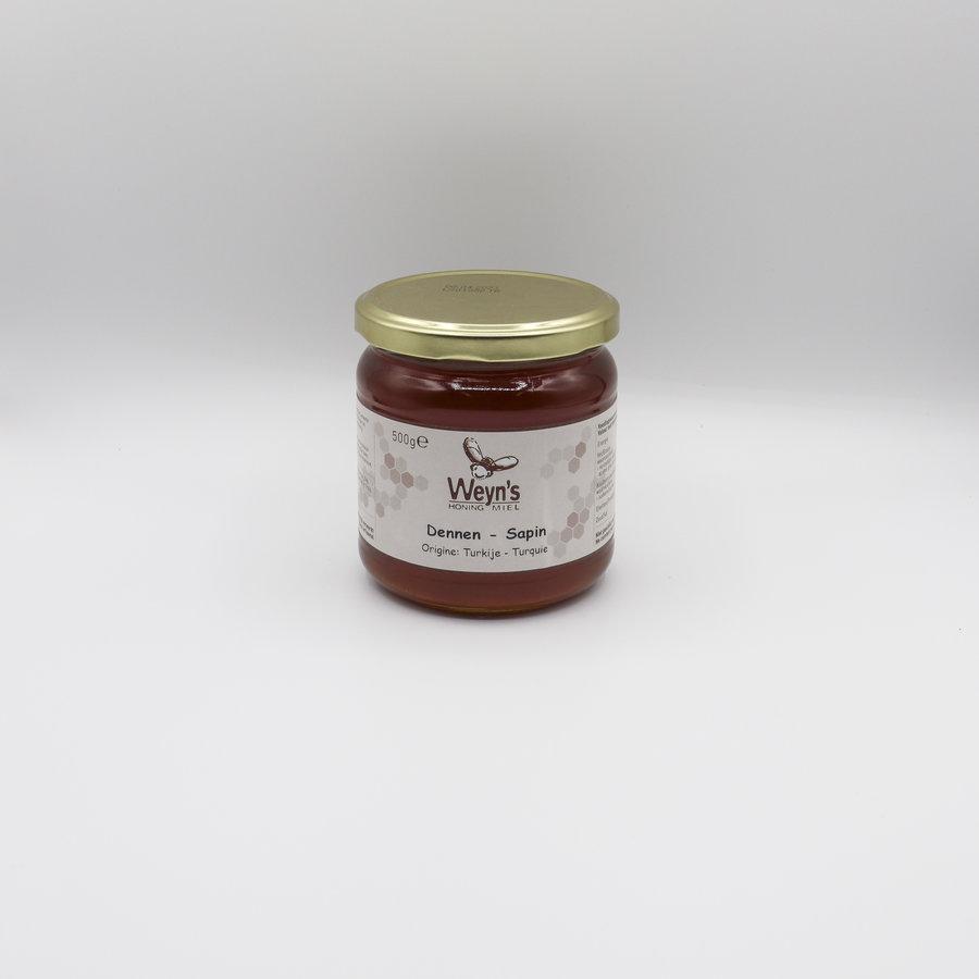 Dennen honing vloeibaar