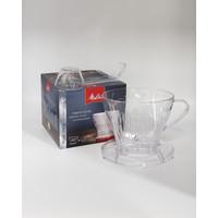 Melitta filterhouder plastic transparant (1x2)