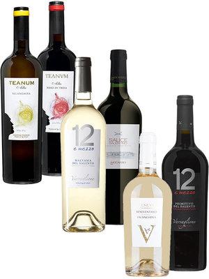 Desmaakvangoedewijn.nl Wijnpakket Italië: Puglia rood & wit