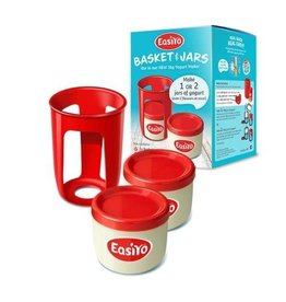 EasiYo EASIYO BASKET AND JARS FOR 1KG MAKER 1 X BASKET 2 X 500G YOGURT JARS CAN MAKE TWO FLAVOURS AT ONCE
