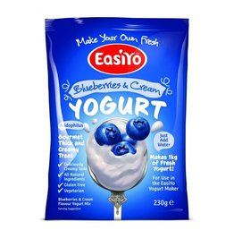 EasiYo EASIYO BLUEBERRIES & CREAM YOGURT 240G MAKES 1KG