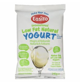 EasiYo EASIYO UNSWEETENED LOW FAT NATURAL YOGURT 140G MAKES 1KG (DISC)