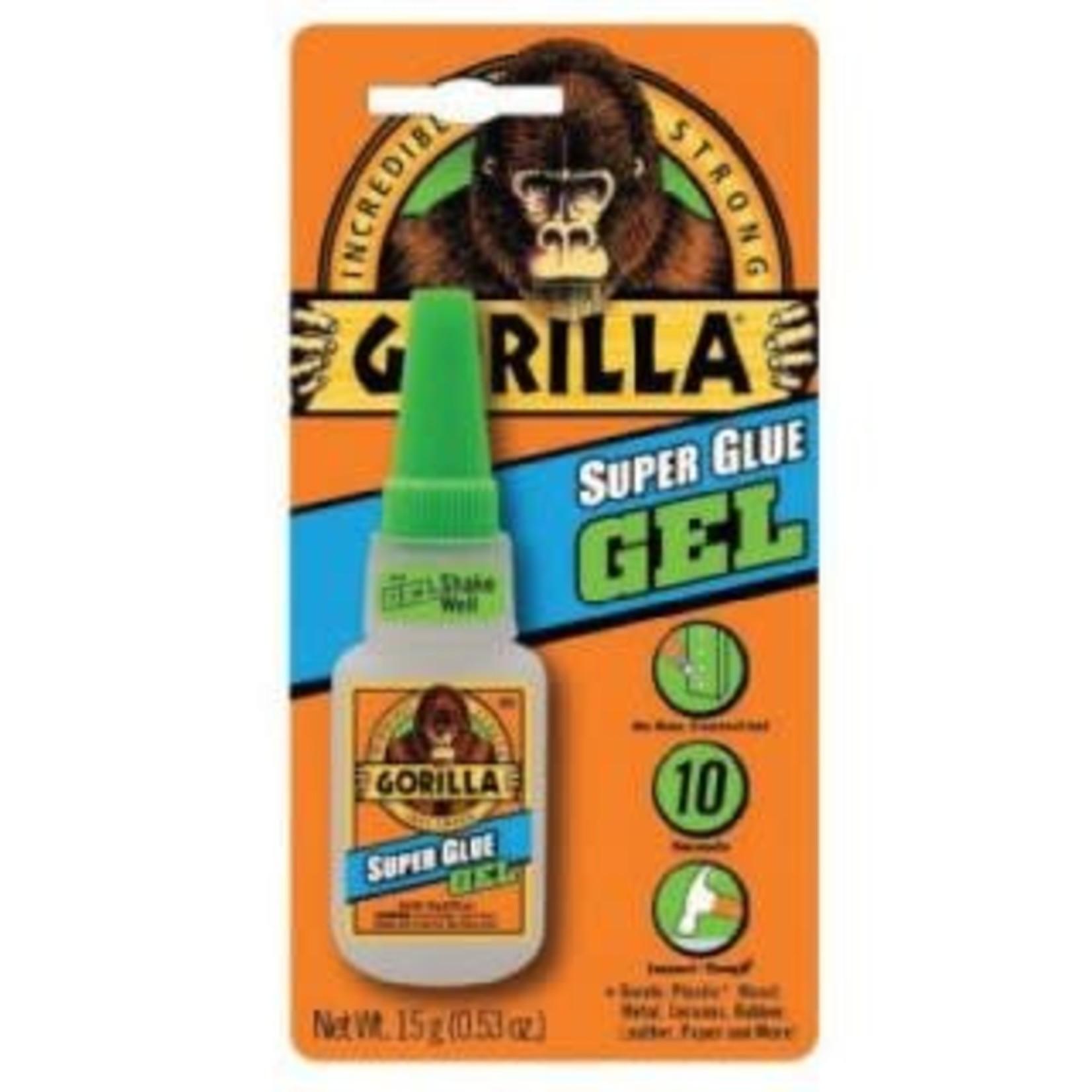 Gorilla GORILLA SUPERGLUE 15G GEL BRUSH & NOZZLE