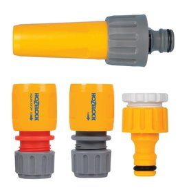 Hozelock 2355 HOZELOCK NOZZEL SPRAY GUN SET WITH TAP CONNECTOR WATERSTOP AND HOSE END CONNECTOR