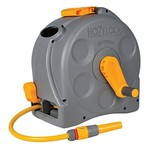 Hozelock 2415 HOZELOCK 2 IN 1 COMPACT ENCLOSED HOSE REEL WITH 25M HOSE AND CONNECTORS