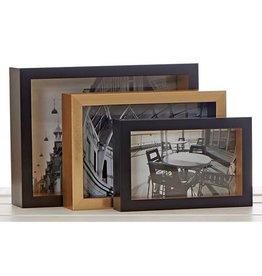 Nest Frames Set OF 3 Landscape Black & Gold