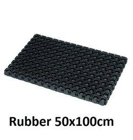 JVL JVL CONTRACT RONDO RUBBER MAT 50 X 100 CM