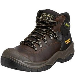 CONTRACTOR BOOT STEEL TOE TOECAP SAFETY BOOTS SIZE 42 (8) BROWN