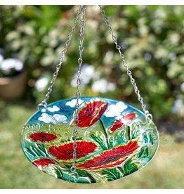 Smart Garden SMART GARDEN HANGING GLASS BIRDBATH - POPPY