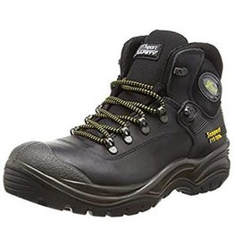 CONTRACTOR BOOT STEEL TOE TOECAP SAFETY BOOTS SIZE 43 (9) BLACK