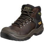 CONTRACTOR BOOT STEEL TOE TOECAP SAFETY BOOTS SIZE 43 (9) BROWN