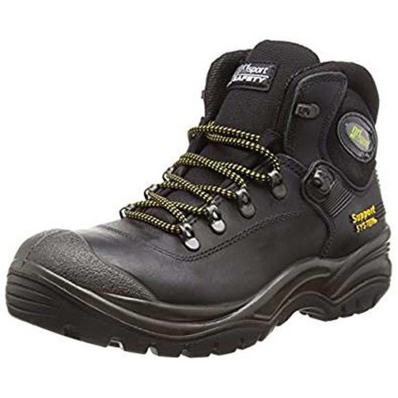 CONTRACTOR BOOT STEEL TOE TOECAP SAFETY BOOTS SIZE 45 (11) BLACK