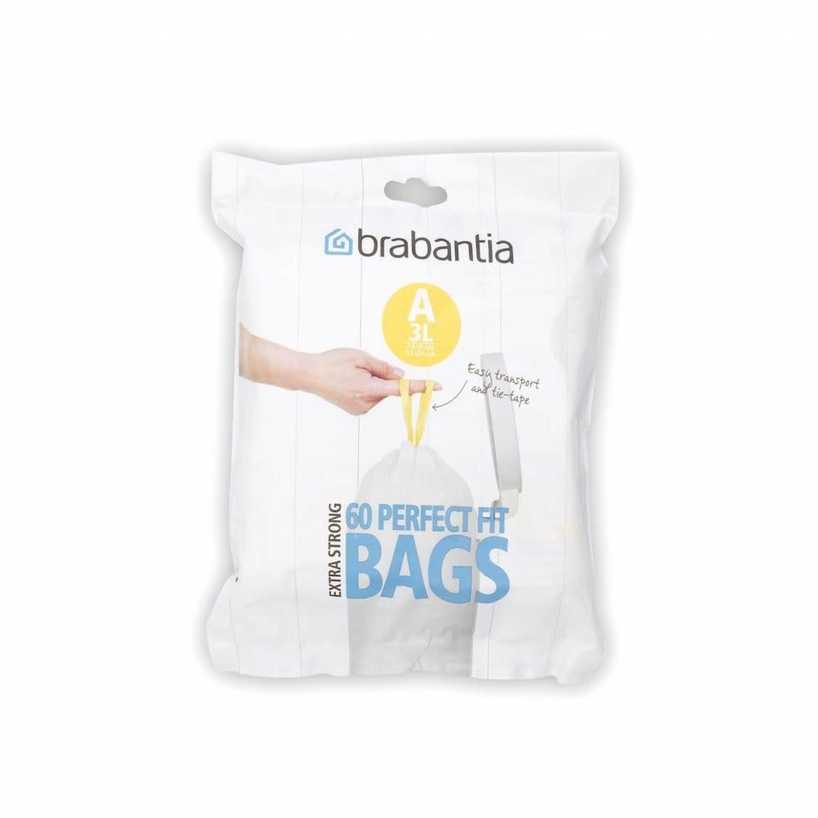 Brabantia BRABANTIA PERFECTFIT BAGS A, 3 LITRE [DISPENSER PACK OF 60 BAGS]