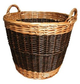 MANOR LOG BASKET TWO TONE LARGE - 50
