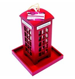 TRADITIONAL RED POLICE BOX BIRD FEEDER