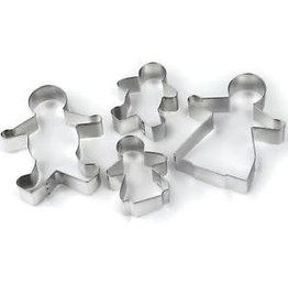 TALA GINGERBREAD FAMILY PASTRY CUTTERS PLAIN 4 PACK