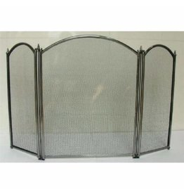 INGLENOOK FIRE196 3 PANEL FIRESCREEN - PEWTER
