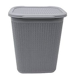 JVL JVL LOOP 50L RECTANGLE LAUNDRY BASKET WITH LID 55 X 44 X 37CM APPROX