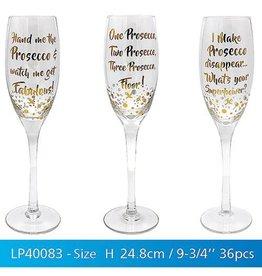 Gold Words Stem Glasses Prosecco