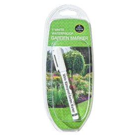GARLAND WHITE WATERPROOF GARDEN MARKER (1)