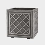 Stewart Garden STEWARTS 38CM SQ.LEAD EFFECT PLANTER PEWTER