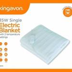 KINGAVON 35W SINGLE ELECTRIC BLANKET 120 X 60CM