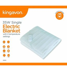 KINGAVON 35W SINGLE ELECTRIC BLANKET 120 X 60CM