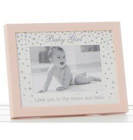 Glitter Dot Hello Frame Pink 6x4