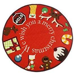 JVL MERRY CHRISTMAS - JVL CHRISTMAS XMAS MAT 80CM DIAMETER